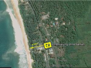 Grundstück Lage Bentota
