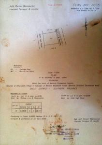 Grundbuch Plan